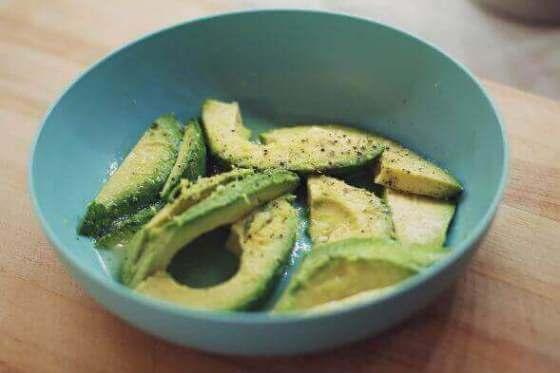 Eating avocado