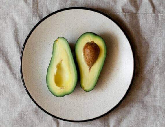avocado fruit plate